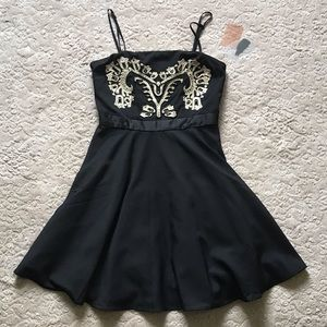 Forever 21 Contemporary black dress, size small